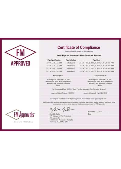 FM Certificate